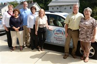 The office staff of Comfort Keepers outside their Bethel Park office: Karen Meszaros, Deborah Madden, Bille Arre, Michele Harvey, Jackie Greenwald, Tom Donohue and Mary Donohue.