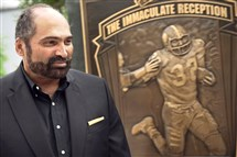 "Franco Harris is featured in the ""Immaculate Reception"" episode of ""Sports Detectives"" on the Smithsonian Channel."