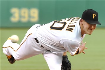 Peter Diana / Post-Gazette 06242016 PITTSBURGH Sports: Pittsburgh Pirates starter Jameson Taillon delivers against the Dodgers at PNC Park PIttsburgh PA