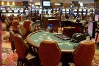 The new non-smoking tables in Rivers Casino.