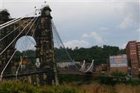 photo for Wheeling NPS story. Captions below: shots of the Wheeling Bridge... HO for Hopey story